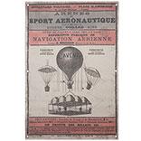 Wandkaart luchtballon