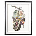 Schilderij scooter