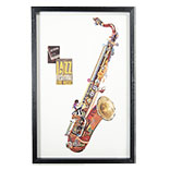 Schilderij Saxofoon