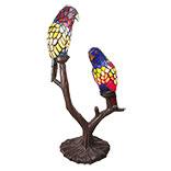 Tafellamp Tiffany 2 papegaaien