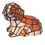 Tafellamp Tiffany hond