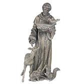 Decoratie beeld Franciscus / vogelbad