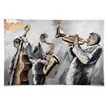 Wanddecoratie muzikanten
