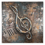 Wanddecoratie muzieksleutel