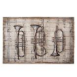 Wanddecoratie muziekinstrumenten
