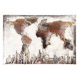 Wanddecoratie wereldkaart