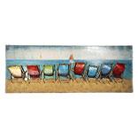 Wanddecoratie strandstoelen