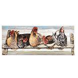 Wanddecoratie kippen