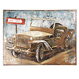Wanddecoratie jeep