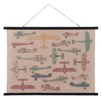 Wandkaart vliegtuigen