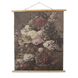 Wandkaart met bloemen