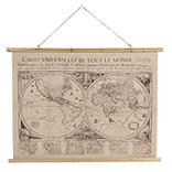Wandkaart wereldkaart