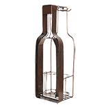 Flessenhouder met kurk en glas houder