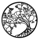 Wanddecoratie boom met vogels