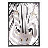 Wanddecoratie zebra