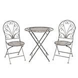 Bistroset tafel + 2 stoelen