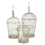 Decoratie vogelkooi (set van 3)