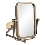 Draaibare spiegel met muurbevestiging zwart