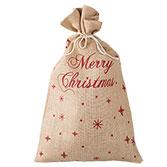 Jute zak Merry Christmas