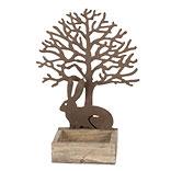 Decoratie konijn en boom