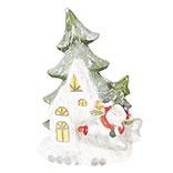 Kerstman bij boom