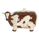 Voorraadpot met deksel koe