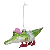 Kerstbal krokodil