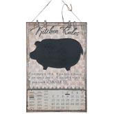 Kreidetafel mit Kalender