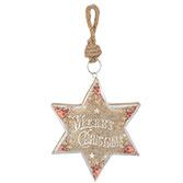 Hanger ster Merry Christmas
