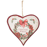 Hanger heart Christmas wishes