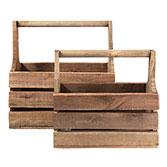 Kist van hout ( set van 2 )