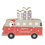 Decoratie Kerstman in bus