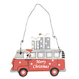 Hanger Kerstman in bus