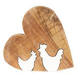 Decoratie hart met kip
