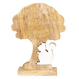 Decoratie houten eekhoorn