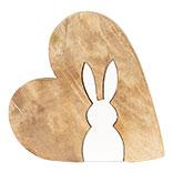Decoratie hart met konijn