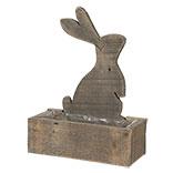 Kist van hout konijn