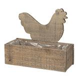 Kist van hout kip