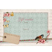 Gift voucher with envelope