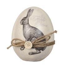 Decoratie ei met konijn