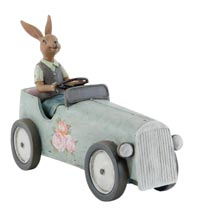 Decoratie konijn in auto