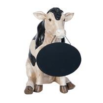 Kuh mit Kreidetafel