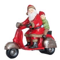Kerstman op scooter