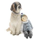 Decoratie kind met hond