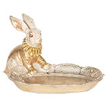 Decoratie konijn met schaal