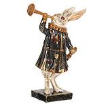 Decoratie konijn met trompet