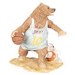 Decoratie beer basketbal