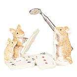 Decoratie muizen met speelkaarten