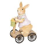 Decoratie konijn op autoped