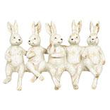 Decoratie zittende konijnen